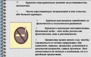 Тест на курение сигарет: для школьников, как обмануть