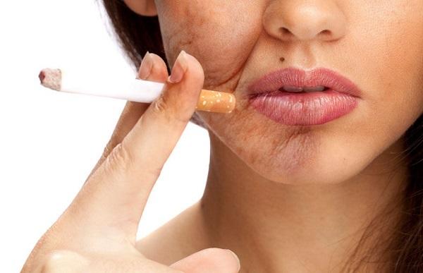 Как влияет курение на кожу лица: прыщи, женщины, старение